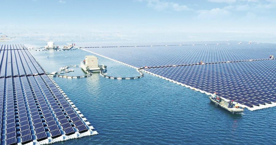 Chine : mise en service de la plus grande centrale solaire flottante du monde @SaiVarunPadala